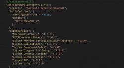 netstandard project.json